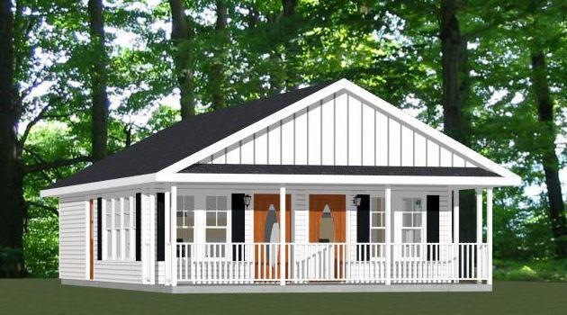 24x30 Duplex -- PDF Floor Plan -- 720 sq ft -- Model 3A