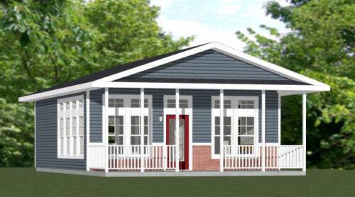 24x30 House -- PDF Floor Plan -- 720 sq ft -- Model 1C