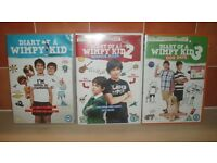 DIARY OF A WIMPY KID 1, 2 & 3 (3 DVDS) VGC