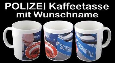 Polizei Tasse , Kaffeetasse mit Wunschname