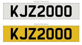 KJZ2000 Cherished Number plate for sale