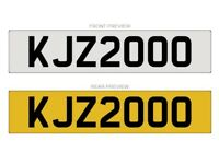KJZ2000 - Cherished Number plate for sale