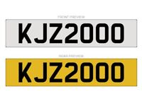 KJZ2000 NUMBER PLATE FOR SALE