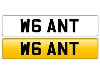 Personalised Number Plate W6 ANT