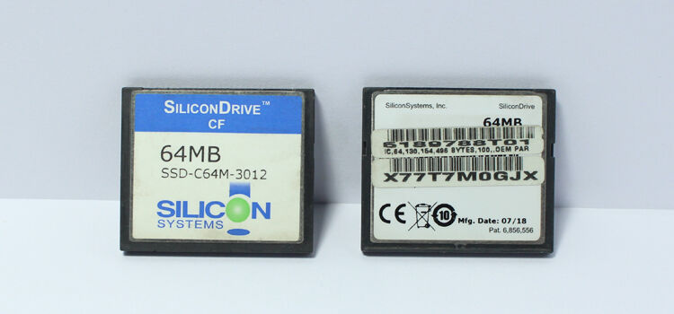 2GB CNC MEMORY CARD SILICON SYSTEMS CF COMPACT FLASH CARD 2GB SSD-C02G