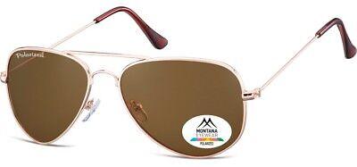 Montana Sonnenbrille 94P Aviator mit Polarisierten Kunststoffgläsern