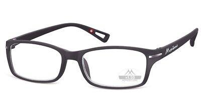 Lesebrille Montana MR76 schwarz von +1,0 bis +3,5 - Schwarze Brille