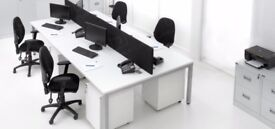 64 - CALL CENTRE BENCH DESKS-WHITE BRAND NEW INCREDIBLE PRICE-1200MM X 700MM SCREENS AVAILABLE ALSO