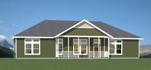 60x30 House -- 3 bedroom 2 Bath -- 1,800 sqft -- PDF Floor Plan -- Model 3E