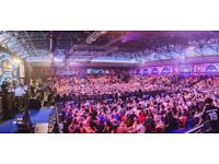 WORLD CHAMPIONSHIP DARTS ALLY PALLY 2 TABLE SEATS SUNDAY 17TH DECEMBER EVENING SESSION