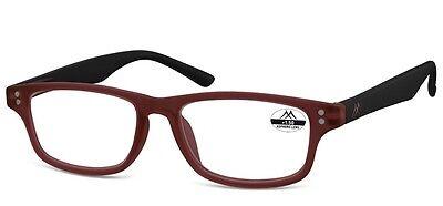 Ersatzbrille dunkelrot Nerd Brille retro Entspiegelt +3,0 bis -6,0 MR97 c OUTLET