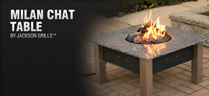 Brand new Outdoor Fireplace with Table on sale at Diamond Willow