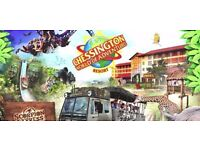 TWO SUN TICKETS FOR CHESSINGTON WORLD OF ADVENTURES VALID FOR MONDAY 12th JUNE 2017