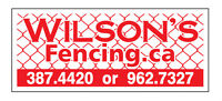 """ Wilson's Fencing "" , FENCE"