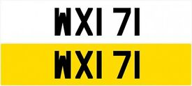 WXI 71 Rare Old Dateless Personalised Number Plate Audi BMW Ford Golf Mercedes Kia Vauxhall