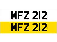 MFZ 212 Dateless Personalised Number Plate Audi BMW Volvo Ford Evo Subaru Honda Toyota Kia GTI M3 RS