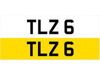 TLZ 6 Single Number Plate Audi BMW Volvo Ford Evo Subaru Nissan Honda Toyota Kia GTI M3 RS