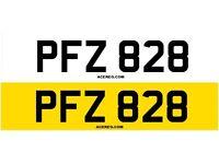 PFZ 828 Personalised Number Plate Audi BMW Volvo Ford Evo Subaru Honda Toyota Kia GTI M3 RS