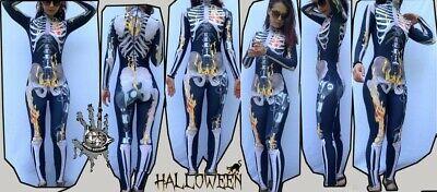 GLAM-Halloween-Kostüm, Skelett,Halloween Costume - Glam Skelett Kostüm