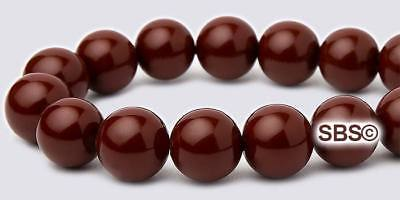 Magnetic Hematite 8mm Round Beads (Pearl Magnetic Hematite Beads 8mm Round - Merlot - FREE)