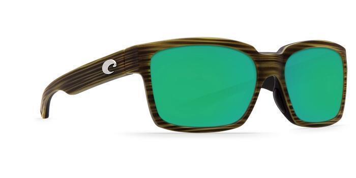 New Costa Del Mar Playa Polarized Sunglasses 580G Glass Matte Verde Teak/Green