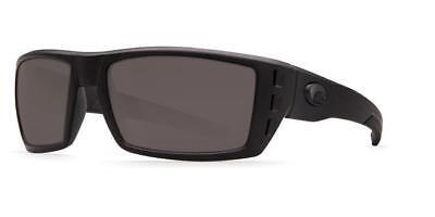 a0e17254fc1b9 New Costa Del Mar Rafael Polarized Sunglasses 580G Glass Matte  Blackout Gray NB