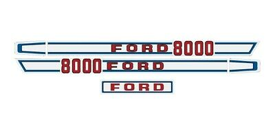 Ford Tractor Hood Decal Kit 8000 Graphics Stickers Set Sides And Back Lk