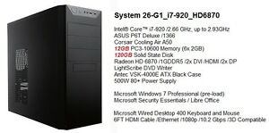 Newer High-Range i7-920 Gaming /12G DDR3 /120G SSD /HD6870