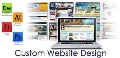 Custom web design business website PHP cms wordpress store classified SEO sites