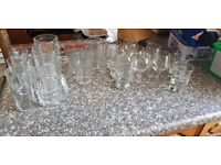 bundle of over 20 assorted glasses