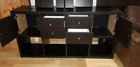 Chest of drawers/ cupboard/ TV stand with 4 wall shelves with brackets