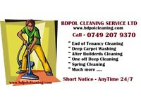 Short notice Professional Deep Clean - End of Tenancy - Carpet wash - After Builders Cleaning