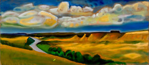 """Badlands"" original painting"