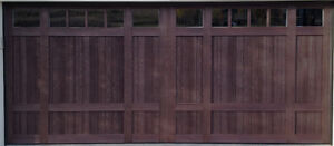 16x7 Stained Carriage Door (New)