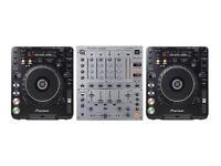 CDJ 1000 mk3 pair + DJM600 mixer + free flight case