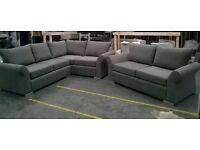 ++++ New Top Quality DQF 9x7ft Fabric Corner Sofa ONLY £699 ++++