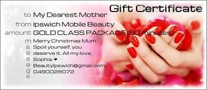 CHRISTMAS BEAUTY NAILS GIFT CERTIFICATES PERSONALISED MESSAGE Gailes Ipswich City Preview