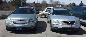 PKG of 2 2004 Chrysler Pacificas AS IS AS SEEN