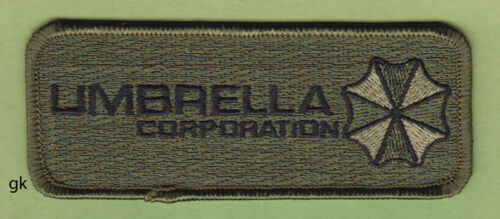 RESIDENT EVIL UMBRELLA CORP. TAG SHOULDER  PATCH   ( Subdued - Green))