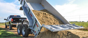 Mulch, soil, crusher dust delivery