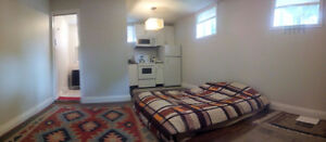 Promotional furnished studio basement available May 14-June 25