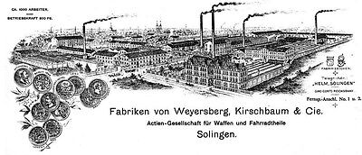 Siegen Solinger Gussstahl-Akt.V Solingen Vz Aktie 1923 Waffen WKC Stahl + Metall