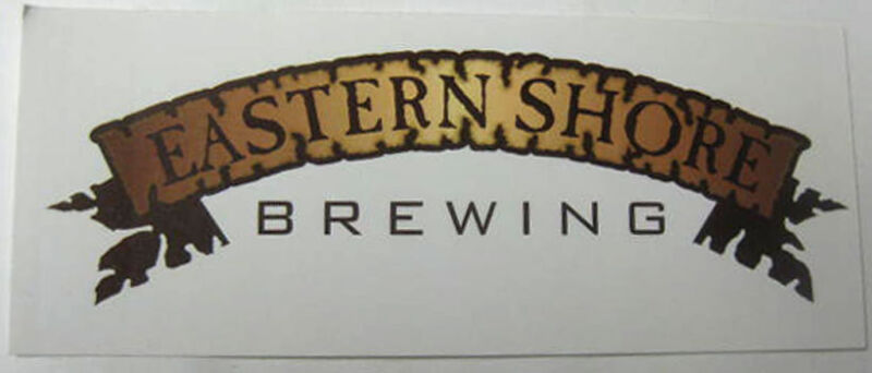 EASTERN SHORE BREWING 2 X 5 inch Beer STICKER, label, St Michaels MARYLAND, NICE