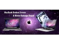 MacBook Broken Screen and water Damage Repair, we come to you Same day 7 days a week