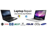 Laptop, Apple Mac and Computer Repairs ; All makes and models - All types of faults