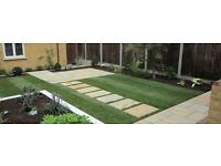 Fencing, flagging, turfing, block paving, decking, landscaping