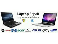 LAPTOP & PC REPAIR SAMEDAY £10