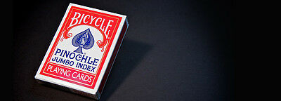 Bicycle Pinochle Red & Blue Card Deck Jumbo Index Playing Cards (Pack of 12)