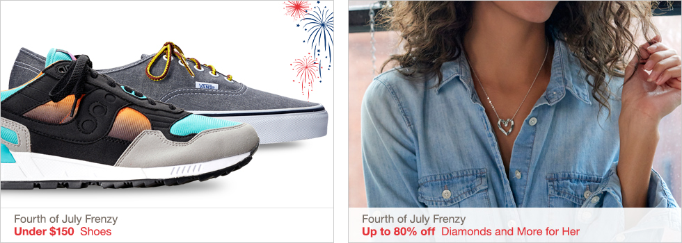 Fourth of July Frenzy | Under $150 Shoes | Fourth of July Frenzy | Up to 80% off Diamonds and More for Her
