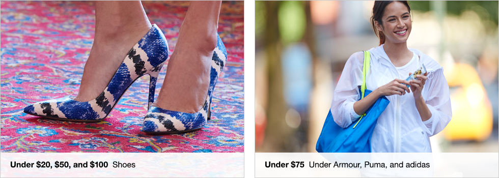 Under $20, $50, and $100 Shoes | Under $75 Under Armour, Puma, and adidas | Shop now
